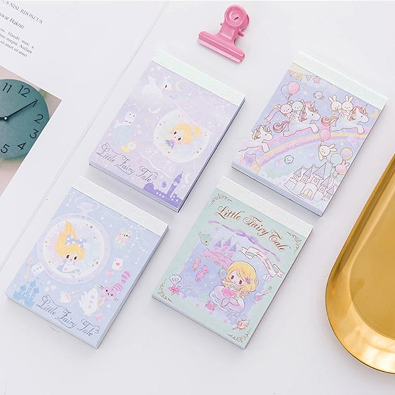 1 Pcs Mermaid Princess Castle Fairy Maiden Unicorn Cartoon DIY Soft Cover Mini Notebook Diary Pocket Notepad Promotional Gift