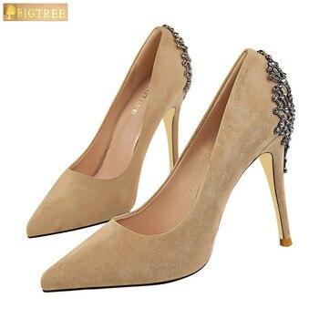 Elegant Metal Crystal Women High Heels Shoes 1