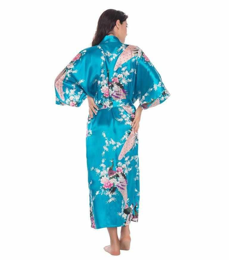 الزفاف العروس وصيفه الشرف ليلة طويلة رداء المرأة خلع الملابس كيمونو حمام ثوب Bathrobe ملابس خاصة الإناث ثوب النوم حجم كبير S-XXXL