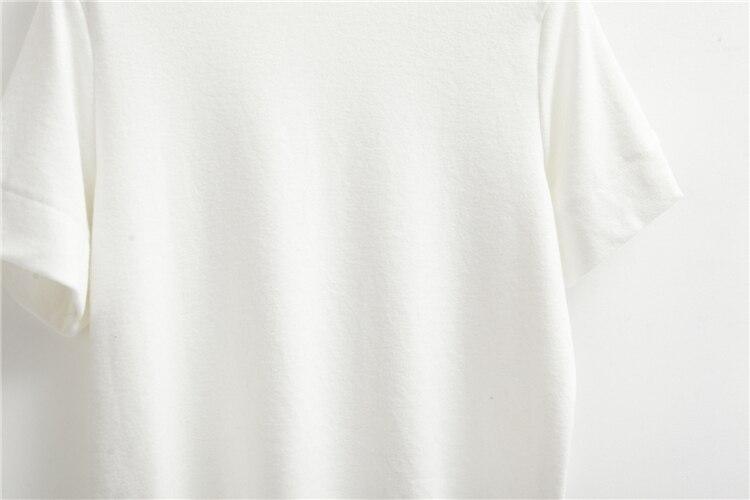 HTB1LuImLVXXXXbGXpXXq6xXFXXX6 - Summer T-Shirt Short Style Casual Stand Collar