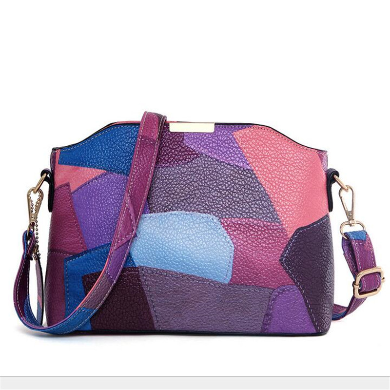 BARHEE Women Crossbody Bags Shell PU Leather Handbag Classic Patchwork Small Size Messenger Bags Bolsas Purse Pouch National