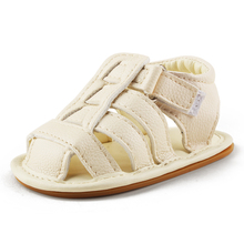 Delebao 2017 Summer New Design Baby Shoes White Crossed Striped Rubber Sole Newborn Girl Sandals (0-18 Months) Wholesale