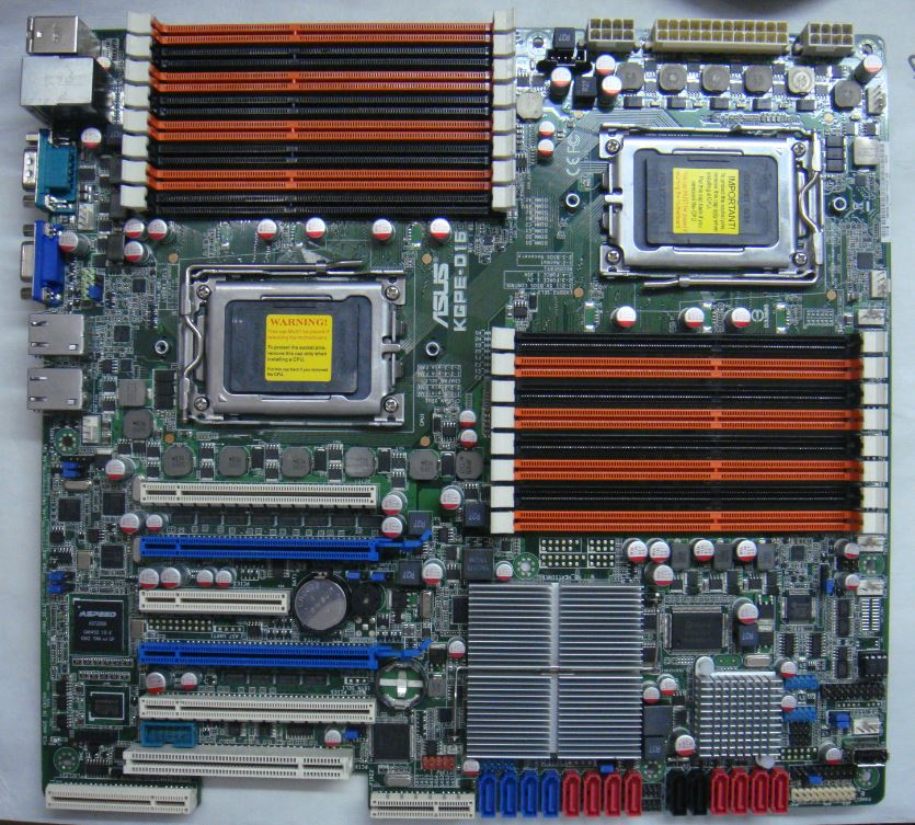 ASUS KGPE-D16 Server Motherboard Dual AMD G34 Interface Supports 16-core CPU  Support Dual Graphics Crossfire