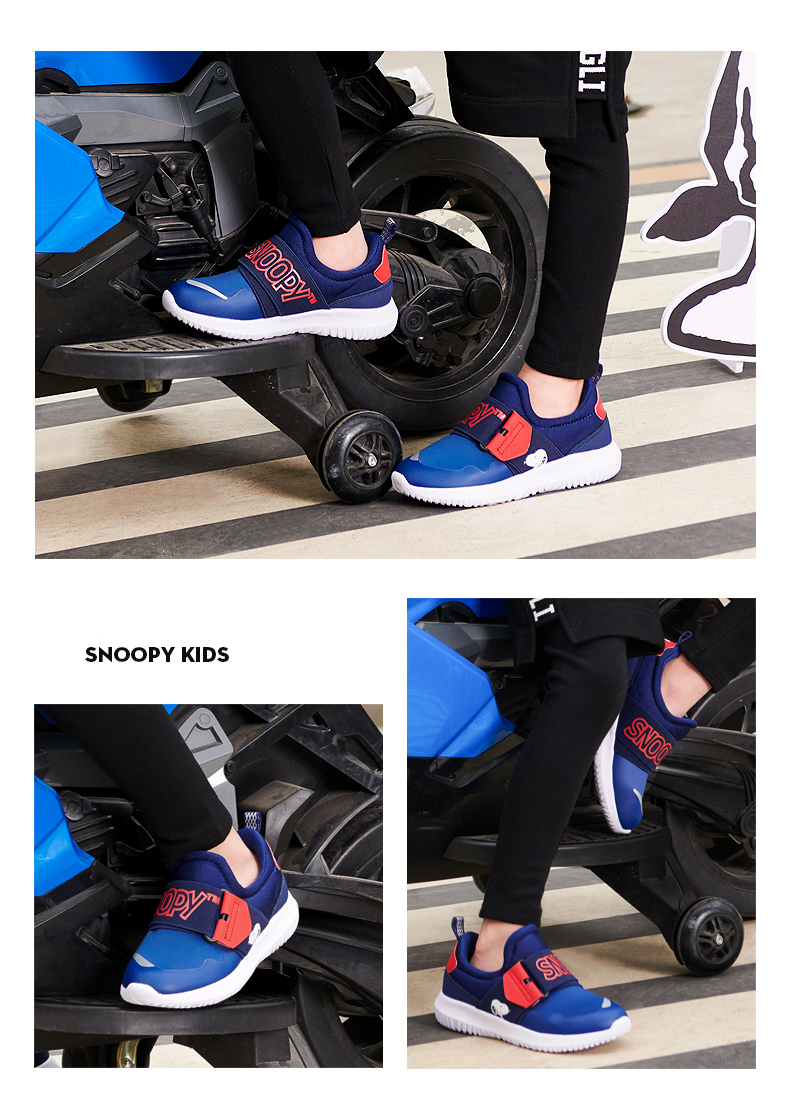 db9d8849f2 Snoopy Kids Shoes Quality Canvas Casual Sports Shoes for Boy 2018 Brand Spring  autumn Baby Boys Sneaker Buckle Strap Comfortable