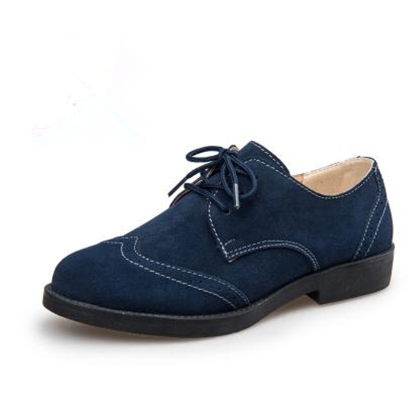 Flat with casual women's singles shoes British style retro genuine leather Oxford shoes zapatos mujer oxford suede shoes phil collins singles 4 lp