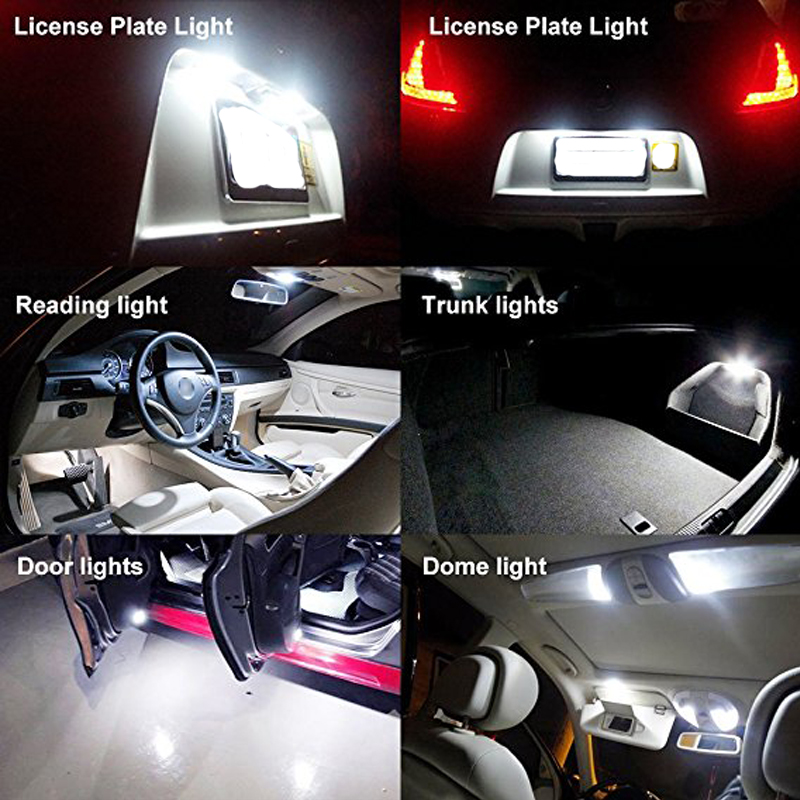 2X Canbus LED Car Light T10 194 168 W5W Parking Lights Auto Clearance white yellow red green blue For passat golf mk6 mk3 jetta6 in Signal Lamp from Automobiles Motorcycles