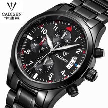 CADISEN Auto Date Watch Men Water Resistant Stainless Steel Men Watch Leisure and fashion Leather Winner Quartz-Watch relogio