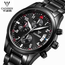 CADISEN Auto Date Watch Men Water Resistant Stainless Steel Men Watch Leisure and fashion Leather Winner Quartz-Watch relogio