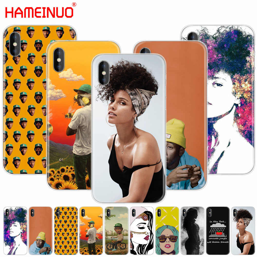 f6f13e13a5a5 HAMEINUO Alicia Keys Tyler the Creator Chup Kar cell phone Cover case for  iphone X 8