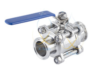 Tri Clamp Ball Valve 1 1 2 38mm OD50 5mm Sanitary Steel 304