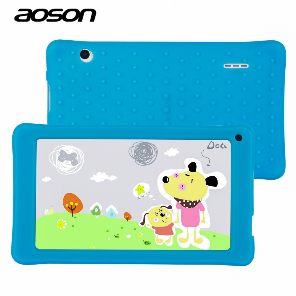 NEW AOSON 7 Inch Kids Tablet PC HD 1024x600 512MB+8GB WiFi Bluetooth Dual Camera Android 4.4 A33 Quad Core Children Tablets
