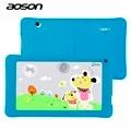 Nuevo aoson 7 pulgadas kids tablet pc hd 1024x600 512 mb + 8 gb WiFi Bluetooth de Doble Cámara de Android 4.4 de Cuatro Núcleos A33 niños tablet