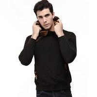 Brand 2017 Hoodie Oblique Zipper Solid Color Hoodies Men Fashion Tracksuit Slim Fit Male Sweatshirt Hoody