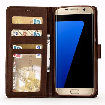 Leather Wallet Galaxy S7 Edge Case