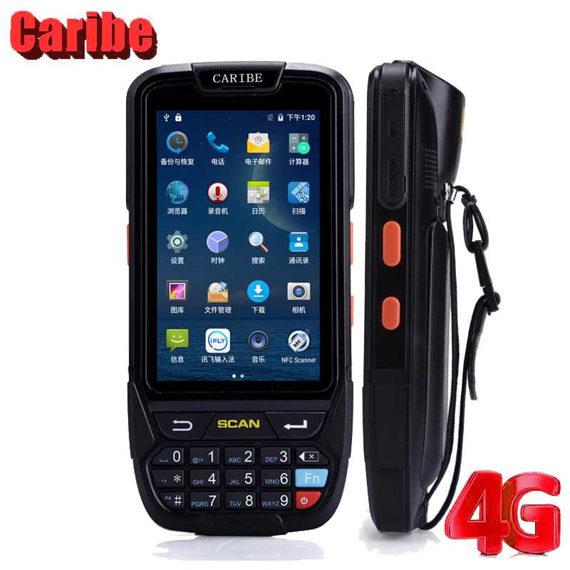 Caribe PL-40L Wholesale Price Handheld Mobile Laser HF RFID 2D Barcode Reader Payment Terminal