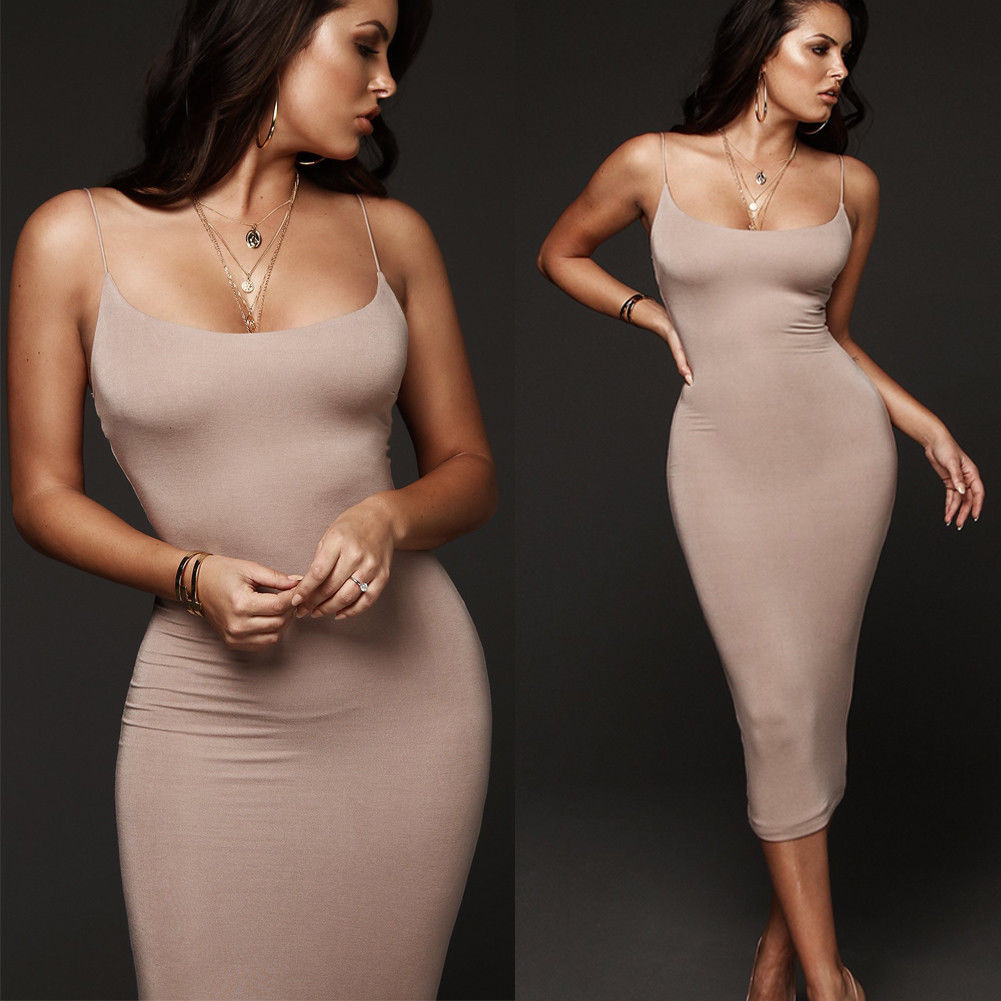 Women Summer Dress Bandage Bodycon Sleeveless Strapless Evening Party Dress Bodycon Clubwear Midi Dresses Vestidos Robe Cheap