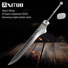 "XITUO 6"" Damascus Bone Cutter Blank Japan VG10 Damascus Steel Material DIY Handmade Forged Kitchen Chef Knife Tool Accessories(China)"