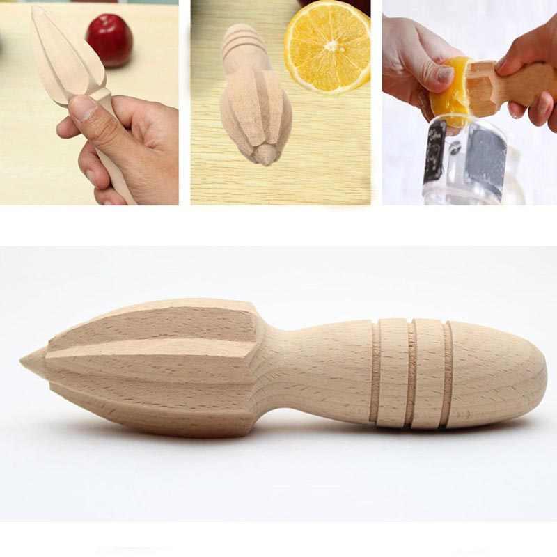 Frutas de madeira espremedor de limão espremedor limão citrino imprensa mão reamer cozinha ferramenta suco