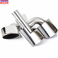 FOR Mercedes Benz AMG C63 C65 W204 exhaust Muffler Tip Stainless Steel Pipe change into AMG Style car styling