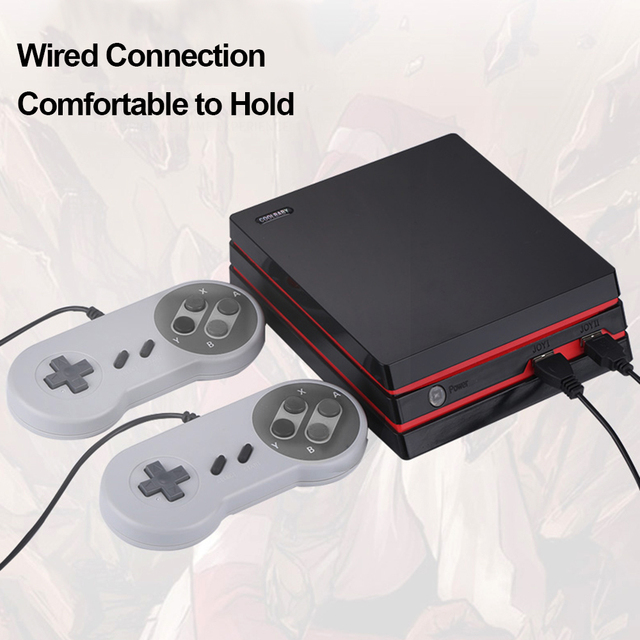 RS-34 HD Family Game Console Classic TV Video Game lots Games Dual Wired Gamepad HD AV Dual Output Game Console