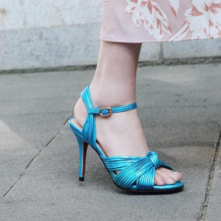 Merk Peep Toe Zomer Gladiator Sandalen Schoenen Vrouw Pompen Vlinder-knoop Ontwerp Sandalias Mujer 2019 Hoge Hakken Chaussures Femme