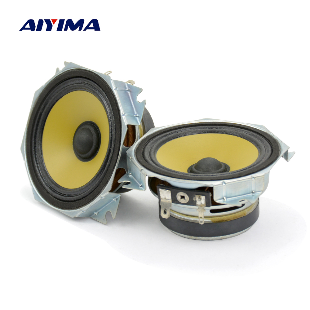 Aiyima 2PC 3inch Audio Speakers 4ohm 10W Midrange Bass Speakers HIFI Uplifting Angle Magnetic Loudspeaker Audio DIY