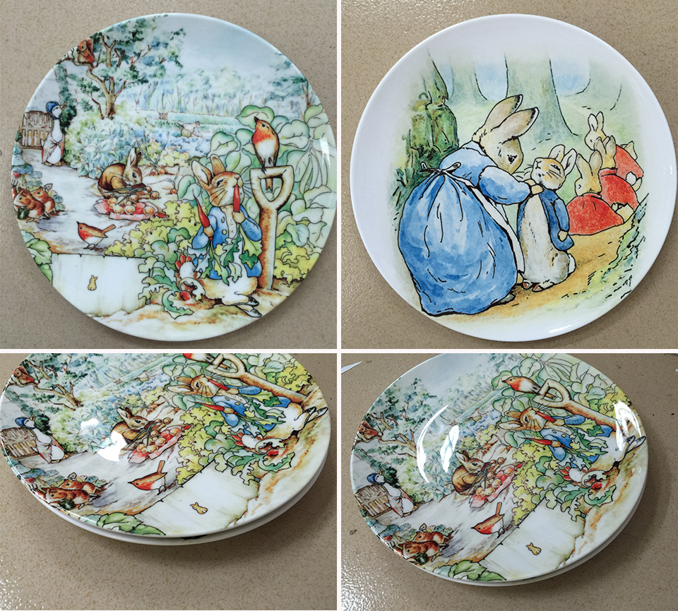 Home Decor Plates British Designer Beatrix Potter The Tale Of Peter Rabbit