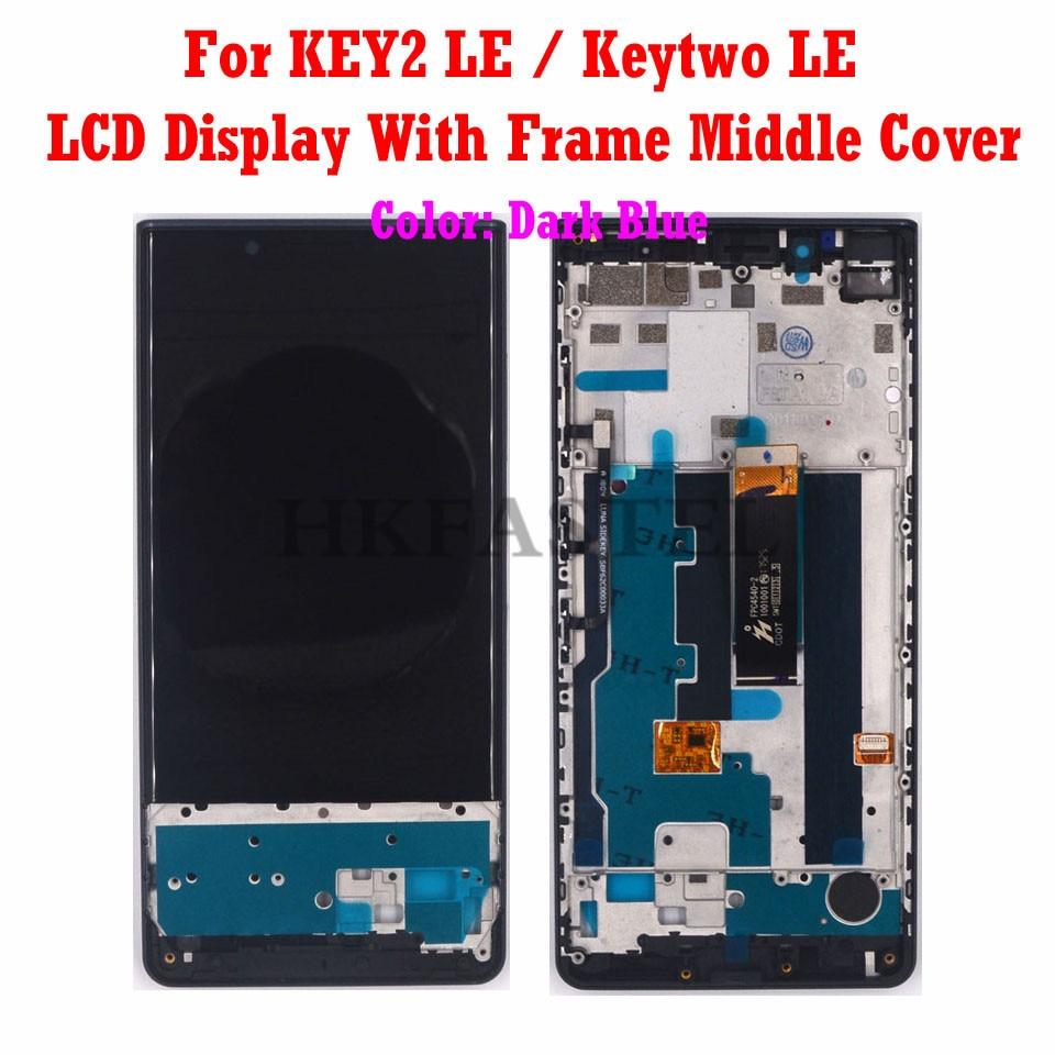 Hkfatel Keytwo LE ЖК средняя рамка Корпус для BlackBerry KEY2 LE мобильный телефон оригинальный ЖК дисплей сенсорный экран передняя крышка