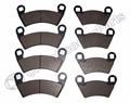 4 SET Semi-metallic non-asbestos Front & Rear Brake Pads Polaris Ranger 500 2x4 Carb, XP 700 & 800 4x4 RZR-4 900