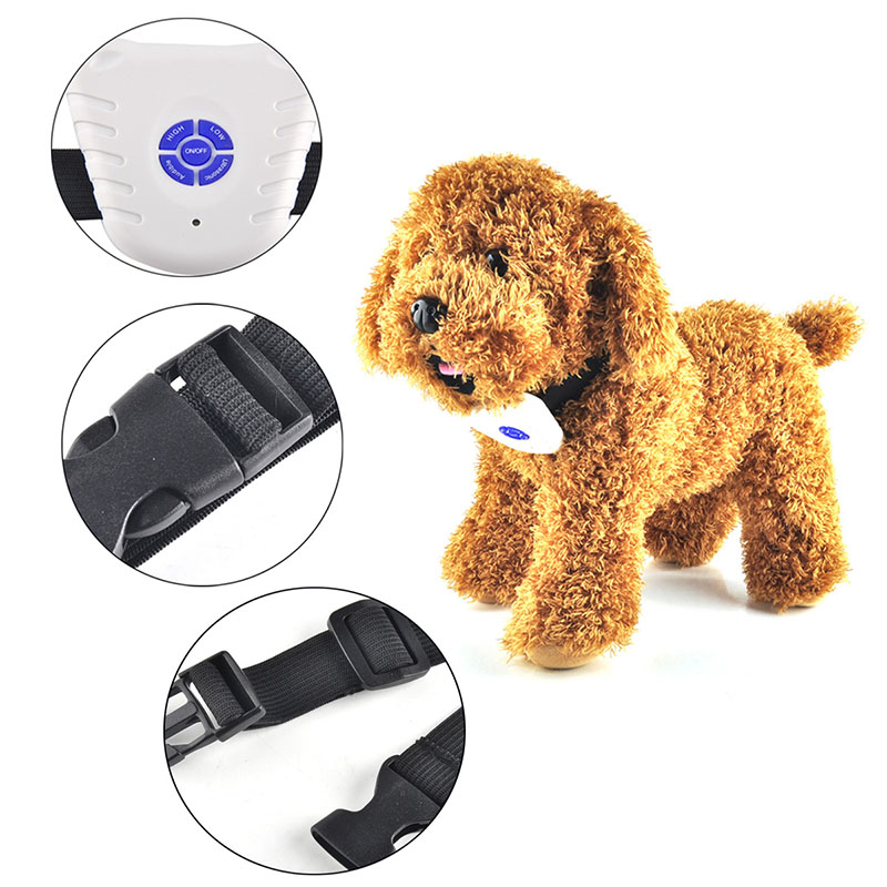 2017 Hot Ultrasonic Safe Anti Bark Stop Dog trainingspak Collares Correas Electronic Pet Barking Stopper Entrenamiento Control de Choque