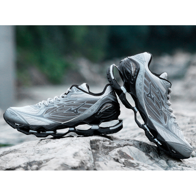 original Mizuno Wave Prophecy 6 Professional gray Colors Men Shoes Sport Sneakers Fencing Shoes Weightlifting Shoes Size 40-45 original mizuno wave prophecy 6 professional weightlifting shoes men sneakers outdoor high quality sport sneakers size 40 45