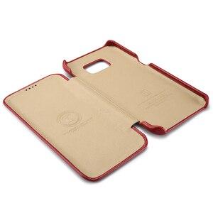 Image 2 - Étui en cuir véritable de luxe ICARER dorigine pour Samsung Galaxy S7/ S7 Edge Ultra mince housse de protection pour téléphone portable accessoires