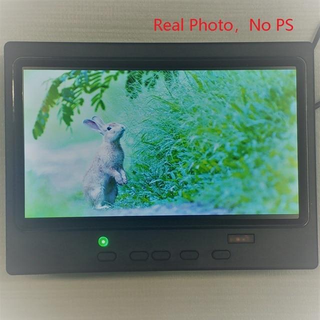 Free Shipping 7 inch  Widescreen HD 1024 * 600 Small LCD Monitor with AV / VGA / HDMI-Compatible Mini Desktop LCD Monitor 1