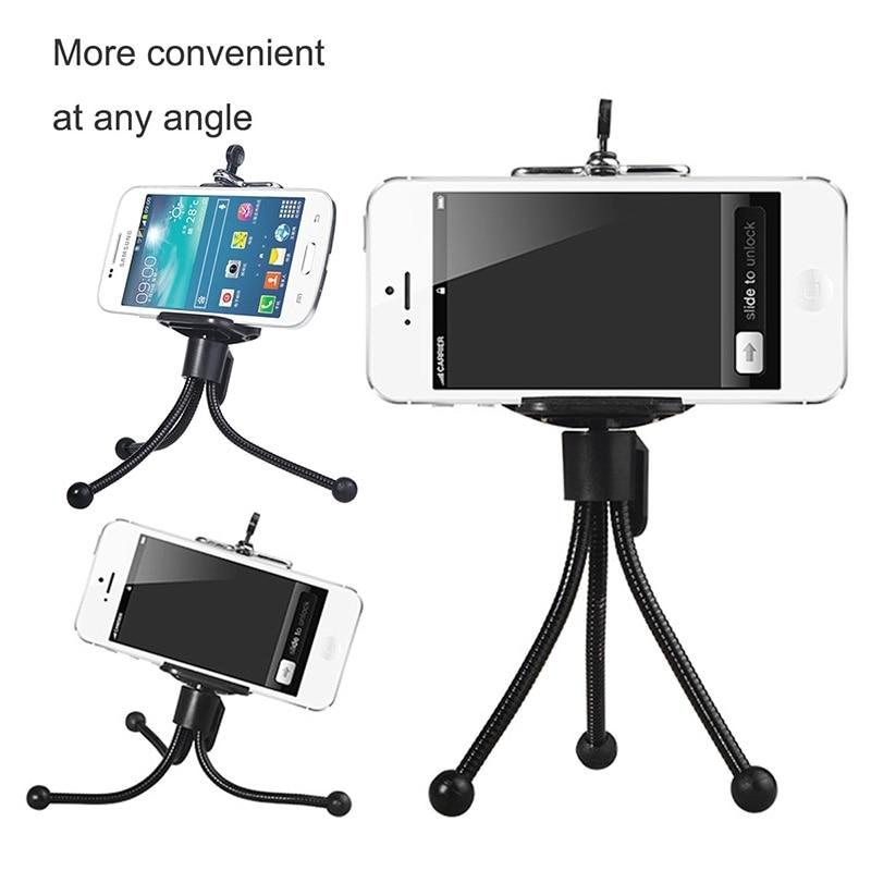 HAWEEL Universal Phone Holder for iPhone 7 6 6S Plus Tripod Stand for - Ανταλλακτικά και αξεσουάρ κινητών τηλεφώνων - Φωτογραφία 3