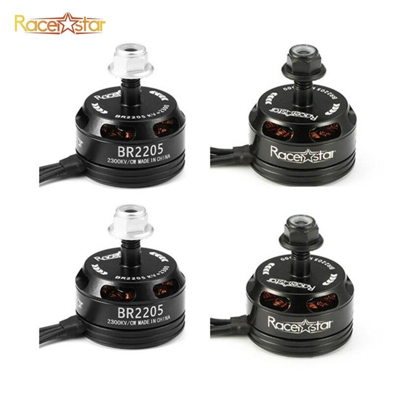 4 pcs 4x Racerstar Racing Édition 2205 BR2205 2300KV 2-4 S Brushless moteur Noir Pour 210X220 250 280 RC Racing Drone Quadcopter