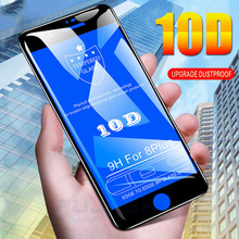 10D Screen Glass Protective Film for iPhone 6 6S 7 8 Plus X XR XS MAX Full Cover Tempered Scratchproof