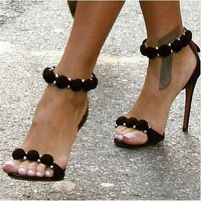 Czerwony Beżowy Zamszowe Sandały Sandalias Koło Sequined ...