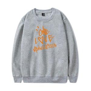 Image 5 - Nieuwe ONE LOVE MANCHESTER mode hip hop Mannen Vrouwen Hoodies capless Sweatshirts Lange Mouw o hals Sweatshirt Hoodie Trui Tops