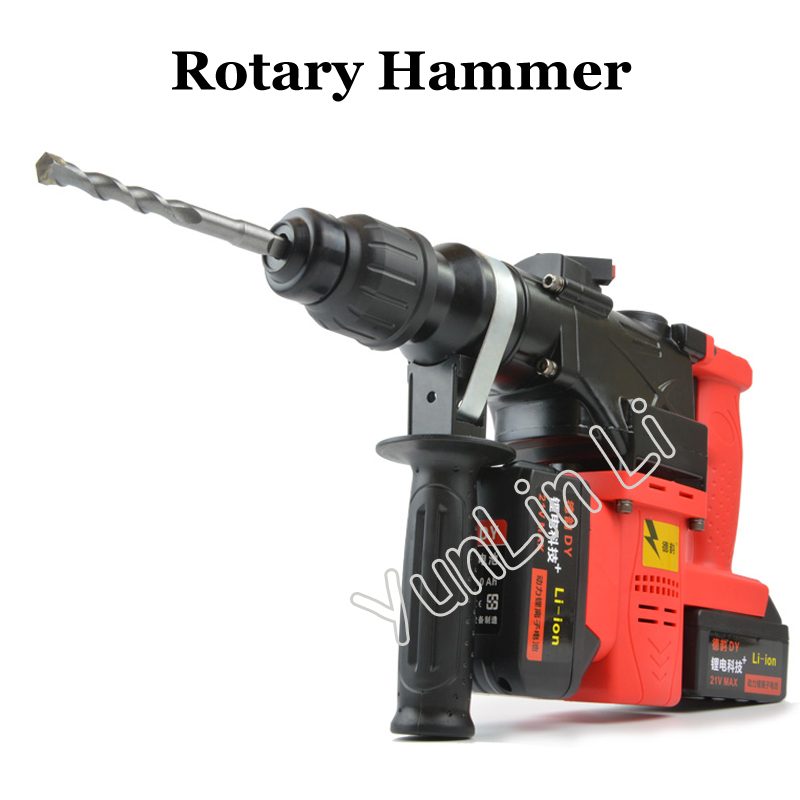 Lithium Battery Rotary Hammer Heavy Duty Cordless Impact Drill Power Tool Cordless Hammer Electric Drill все цены