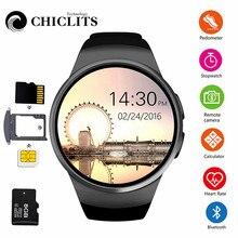 2daacae46c5f KW18 reloj inteligente Bluetooth con pantalla táctil y pantalla de Monitor  de ritmo cardíaco deporte Smartwatch