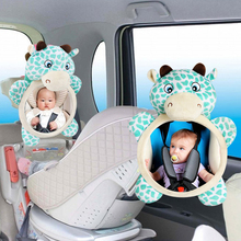 Купить с кэшбэком Baby Rear Facing Mirrors Safety Car Back Seat Baby Easy View Mirror Adjustable Useful Cute Infant Monitor for Kids Toddler Child