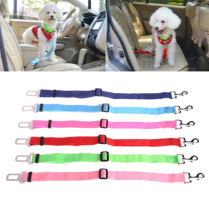 Pet Cat Dog Safety Vehicle Car Seat Safety Belt Dog Seatbelt Harness Lead Adjustable Travel Clip Apr