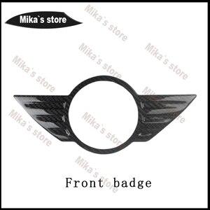 Image 2 - Наклейка с рисунком из углеродного волокна внешняя декоративная эмблема передний старый значок для MINI COOPER F55 F56 F54 автомобильный Стайлинг стикер для тела