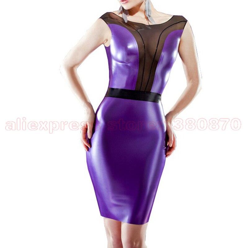Latex Dresses Women Fashion Sexy Rubber Latex Club Wear Dress Custom Made Size Handmade LD161