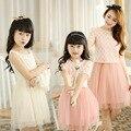 2017 Новый Шумер Семья одежда платье для матери и дочери двух частей платья милый прекрасный платье 2 цвета