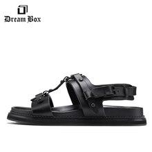 leather sandals beach shoes homme  zapatos de hombre mens summer sandalias men flat for