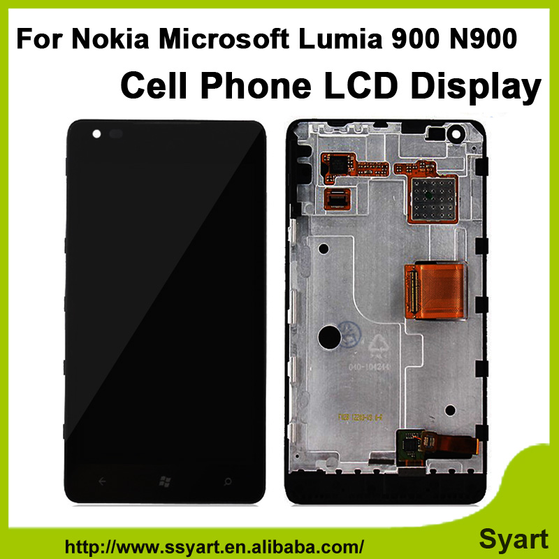ФОТО For Nokia Microsoft Lumia 900 N900 High quality LCD Display + Touch Screen Digitizer + Frame lcd Assembly + Tools Free Shipping