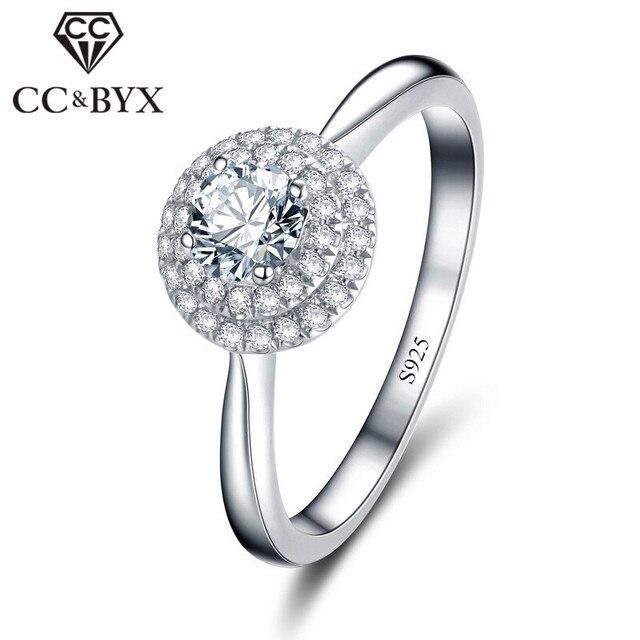 Luxury Wedding Rings For Women Cincin Wanita Engagement Cheap Rings For Woman Bague Femme Lovers CZ Jewerly  CC105