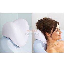 Domu łazienka dostaw poduszka do kąpieli PU obejmujące w kształcie serca poduszka do kąpieli s z 3 przyssawkami
