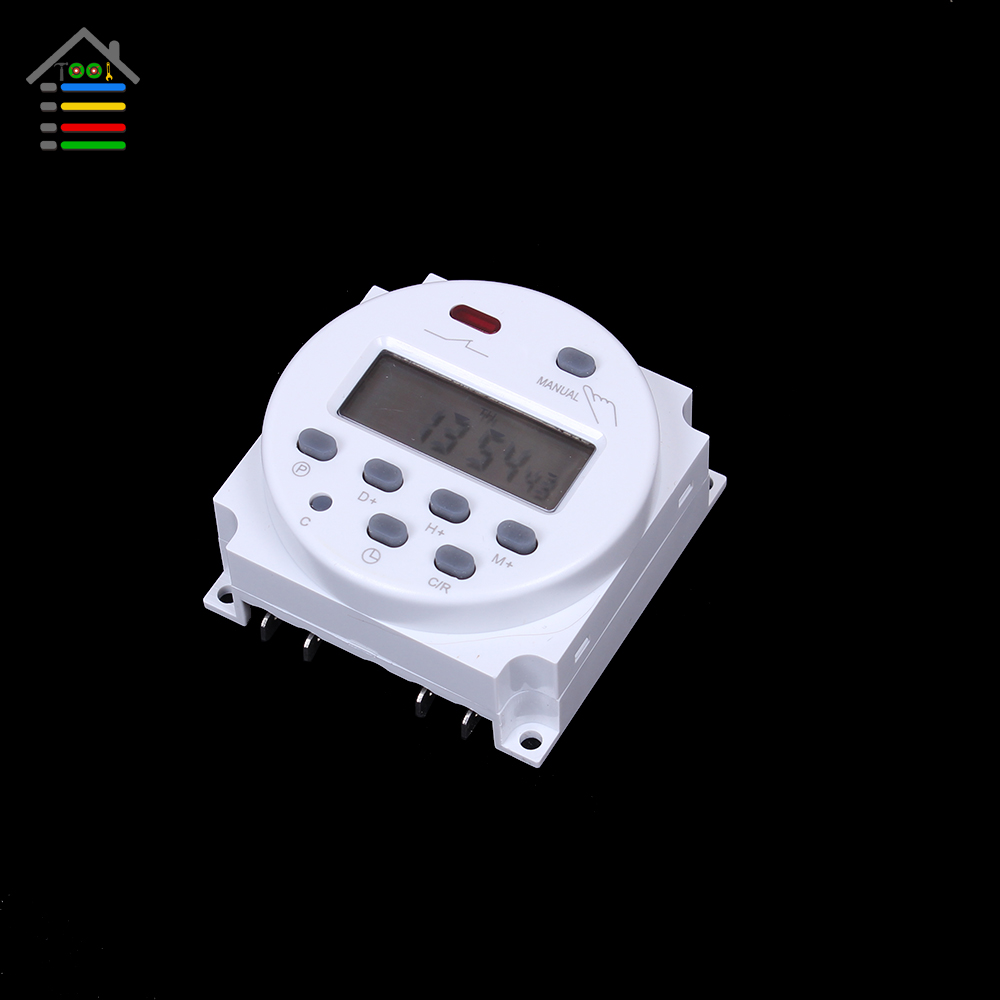 Direct Current 12V 16A Mini LCD Digital Power Programmable Control Timer Switch Time Relay Free shipping sinotimer 12v ac dc control power timer 50 hz 24 hours timer switch control high quality time relay electronic instrument